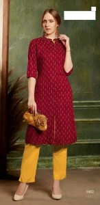 Ruddhi Ikkat Cotton Kurtis ( 6 Pcs Catalog )