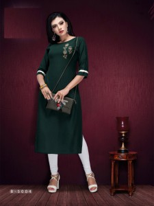 Rijiya Trends Flash Rayon Kurti  ( 8 Pcs Catalog )