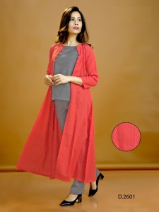 Indira Apparel Him Varsha Top With Jacket And Bottom ( 4 Pcs Catalog  )