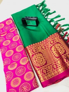 Aura Star Brocket Cotton Saree ( 10 Pcs Catalog )