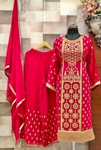 Georgette Semi stitched Suits (4Pc Set)