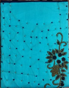 Chanderi Silk Mirror Work Dress Material