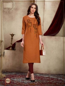 Rajvee Barfi Cotton Kurti  ( 8 Pcs Catalog)