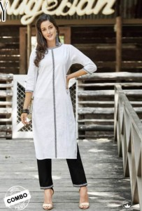 100 Miles Ivory Cotton Kurti With Bottom ( 6 Pcs Catalog )