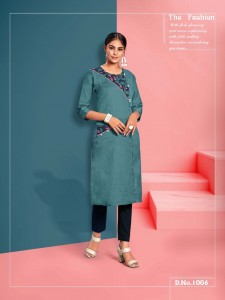 Channel 9 Kashmora Cotton Kurtis ( 9 pc catalog)