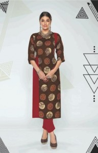 Channel 9 Opec Rayon Kurtis ( 9 pc catalog)
