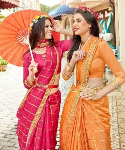 Saroj Neerja Fancy Silk Sarees ( 8 pc catalog)