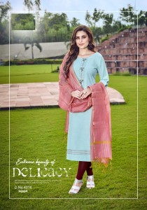 Mittoo Rasam Rayon Kurti With Dupatta ( 8 pc catalog )