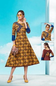 Kinti Sunday Monday Vol-3 Kurtis ( 10 Pcs Catalog )