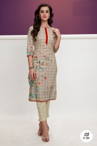 Rudhi Blaze Cotton kurti ( 5 Pcs catalog )