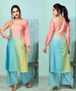 Karma Tucute Tusser Silk Kurti With Plazzo ( 7 Pcs Catalog )