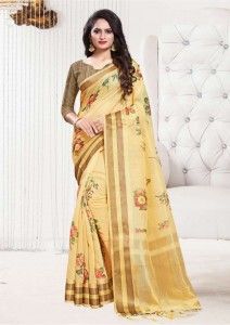 Apple Flowery chex Cotton Sarees ( 10 Pcs Catalog )