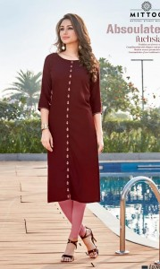 Mittoo Heer Vol-2 Rayon Kurtis (8 pc catalog)