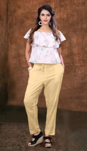Poorvi Designer Cotton Slub Pencil Pant (6 Pcs Catalog)