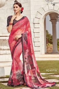 T & M Panache Vol-17 Georgette Saree (14 pcs Catalog )