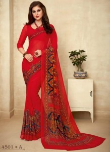 Ruchi Super Kesar Chiffon Poster Vol-45 Saree ( 20 Pcs Catalog )
