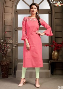 Manas Mitwa Pure Cotton Kurtis ( 6 Pcs catalog )