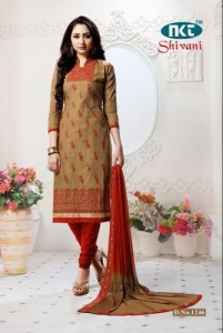 NKT Shivani Gold Dress Material ( 4 pcs catalog )