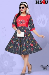KS4U Decent-3 Rayon Kurtis ( 6 Pcs Catalog )