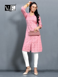 Vf India Queen Handloom Cotton Kurti ( 6 Pcs Catalog )