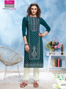 Diya Trends Forever Vol-2 Kurti With Pant ( 12 Pcs Catalog )