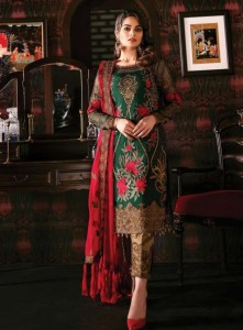 Khayyira Freesia Vol-2 Georgette Embroidery Pakistani Dress ( 5 Pcs Catalog )