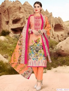 Al Zohaib Roohi Lawn Dress Material ( 10 pc catalog )