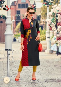 Sawan Honey Vol-15 Fancy Kurti ( 12 Pcs Catalog )