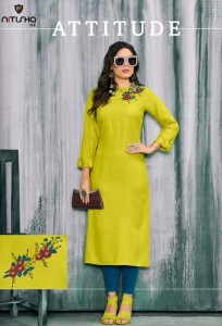 Nitisha Nx Winter Rayon Party Wear Kurti ( 10 Pcs Catalog )