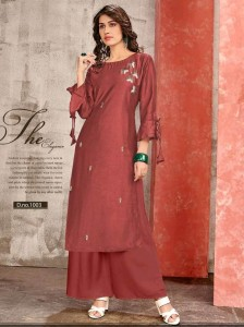 Channel 9 Ripple Kurti With Palazzo ( 6 pc catalog )