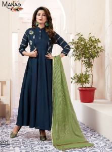 Manas Kiara Vol-3 Kurti With Dupatta ( 8 Pcs catalog )