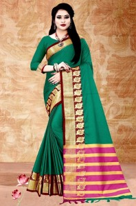 Aura Leaf Cotton Silk Saree ( 8 Pcs Catalog )