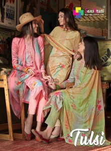Sanskruti Tulsi Pure Jam With Embroidery Dress Material ( 8 Pcs Catalog )