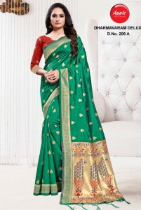 Apple Dharmavaram 206 Saree ( 6 Pcs Catalog )