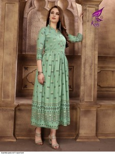 Kunj Kitty Party Vol-1 rayon kurti ( 10 Pcs catalog )
