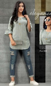 Western Cotton Tops with work Collections ( 9 Pcs Catalog )