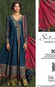 Fair Lady Maria B jam Satin Dress Material ( 4 Pcs Catalog )