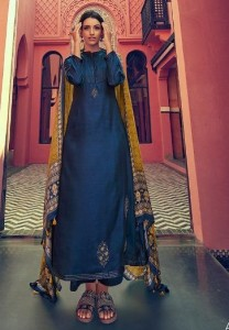 Varsha Fashion Ajrakh Dress Material (07 pc catalog)