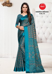 Apple Swarna Brasso Saree ( 10 Pcs Catalog )