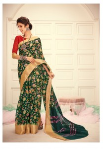 Shangrila Jequard Linen saree (12 pc catalog)