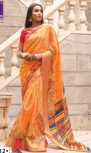 Shangrila Saloni-2 Linen saree (12 pc catalog)