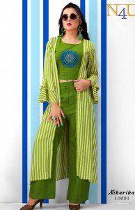 Neha Fashion Niharika Kurti Pant With Jacket (5 Pcs Catalog )