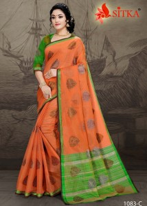 Sitka Grahlaxmi-1076 Handloom Cotton Saree (4 pcs catalog )