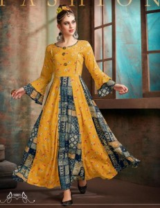 Riya Designer Aaisha Full Flair Kurtis ( 4 Pcs Catalog )