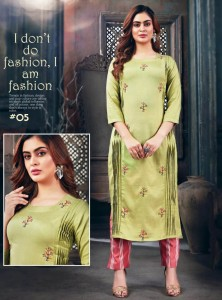 Tips & Tops Mannat Vol-3 Kurti With Pants ( 6 pcs catalog )
