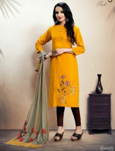 Sitka Look Back Kurti With Dupatta ( 4 pcs catalog )
