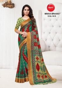 Apple Minaxi Brasso Sarees ( 4 pc catalog )