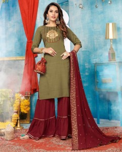 Rijiya Trends Tjori Top Bottom & Dupatta ( 5 Pcs Catalog )