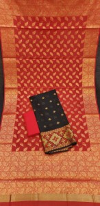 Kashi Banarasi With Gold Zari Top Dress Material ( 4 Pcs  Catalog )