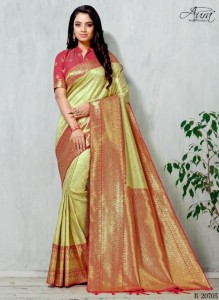 Aura Manna Art Silk Sarees ( 6 pc catalog )